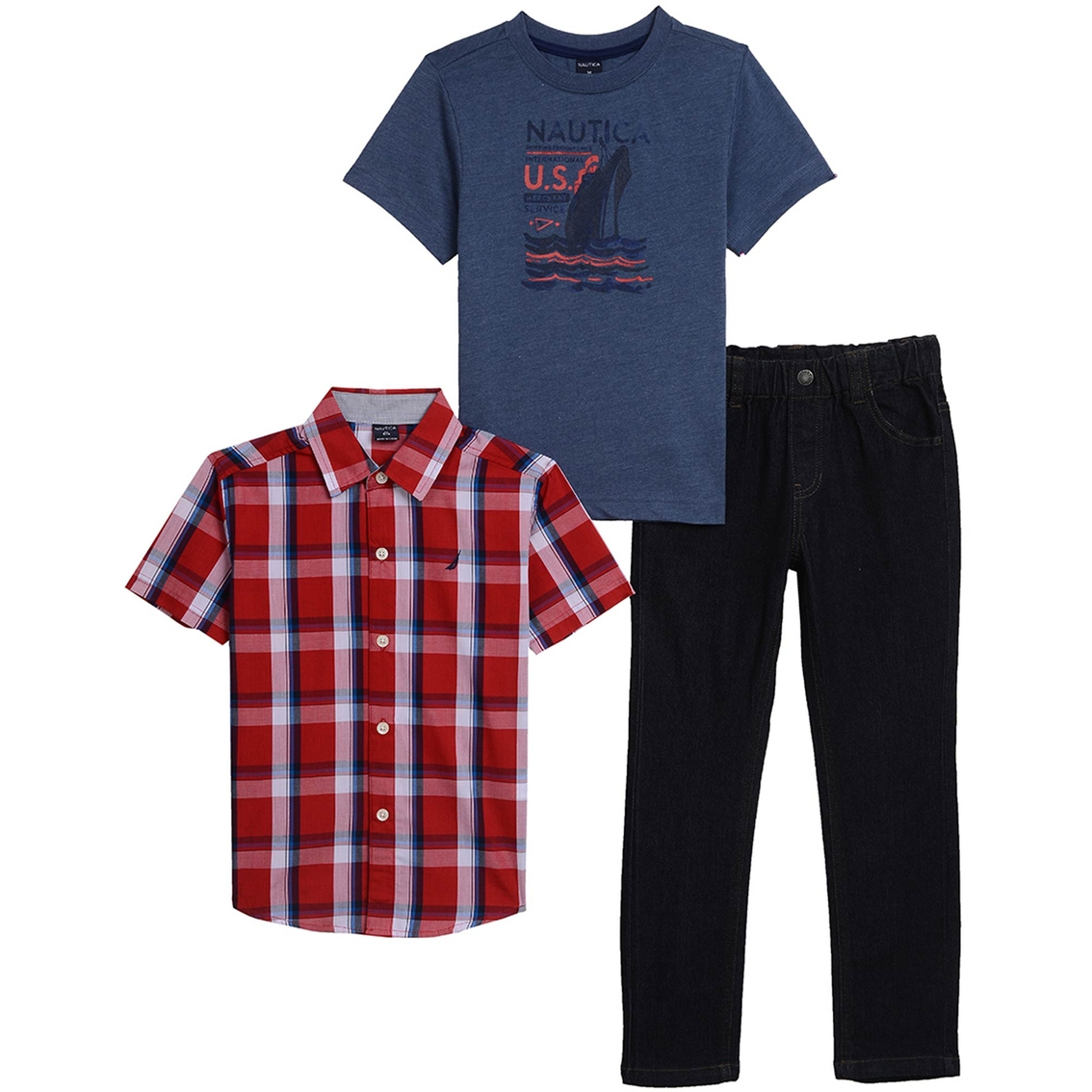 2ad14b7b9 Nautica Little Boys 3 Pc. Woven Set   Boys 4-7x   Apparel   Shop The ...