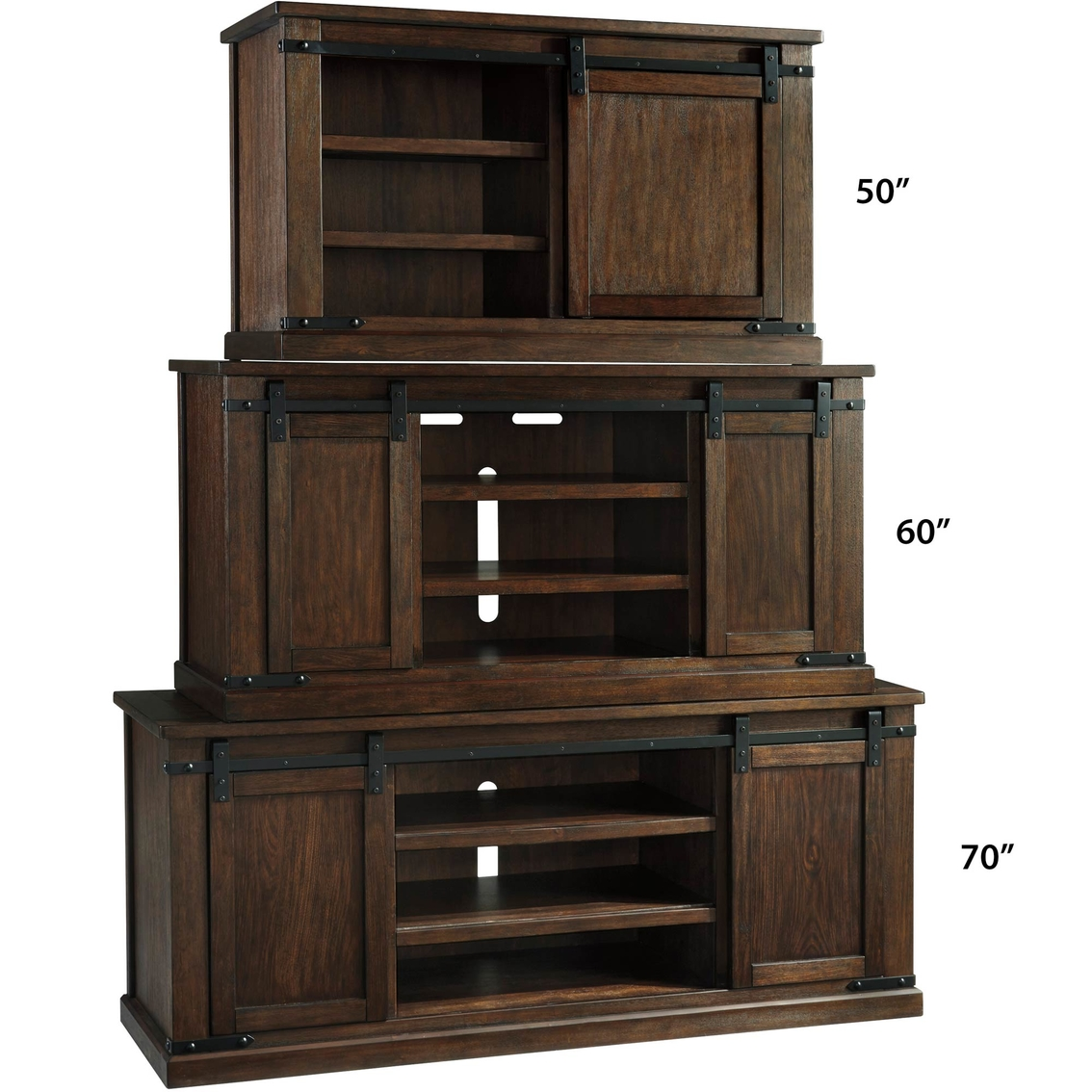Ashley Budmore Tv Stand With Sliding Barn Doors Media Furniture