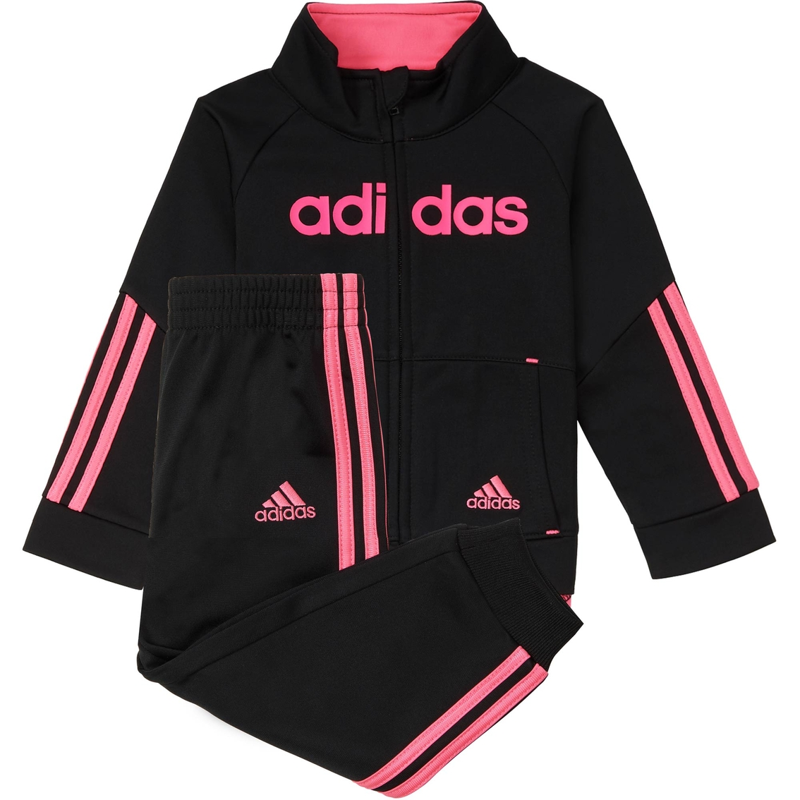 Adidas Linear Infant Girls Tricot Jacket And Jogger Set  0a612a055