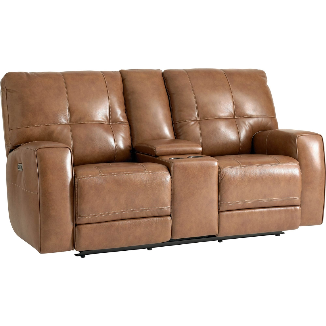 Bassett Club Level Conway Power Reclining Loveseat Sofas