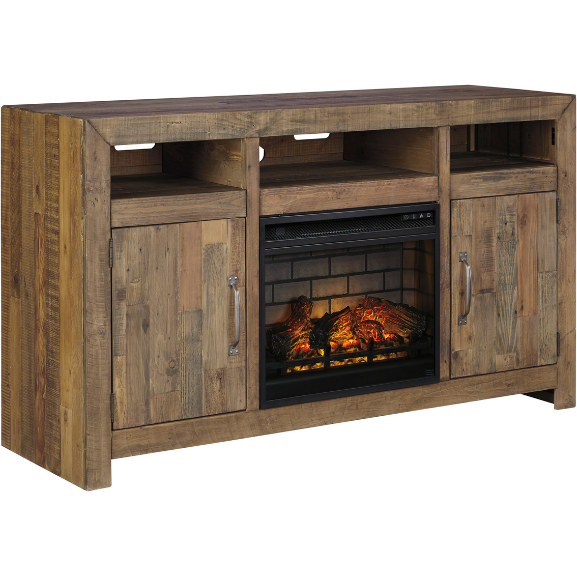Ashley Sommerford Tv Stand With Fireplace Insert Media Furniture
