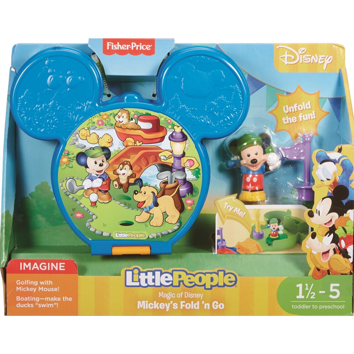 Fisher-price Little People Magic Of Disney Mickey\'s Fold \'n Go ...