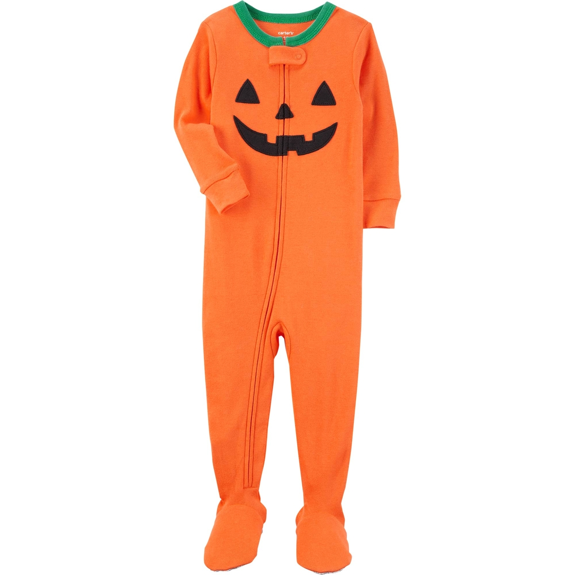 carters infant boys 1 pc halloween pumpkin pajamas
