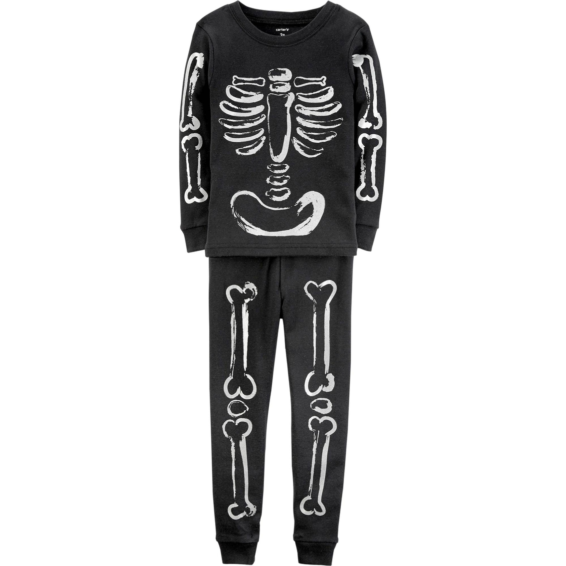 028067d5f5f9 Carter s Infant Boys 2 Pc. Snug Fit Halloween Skeleton Pajama Set ...