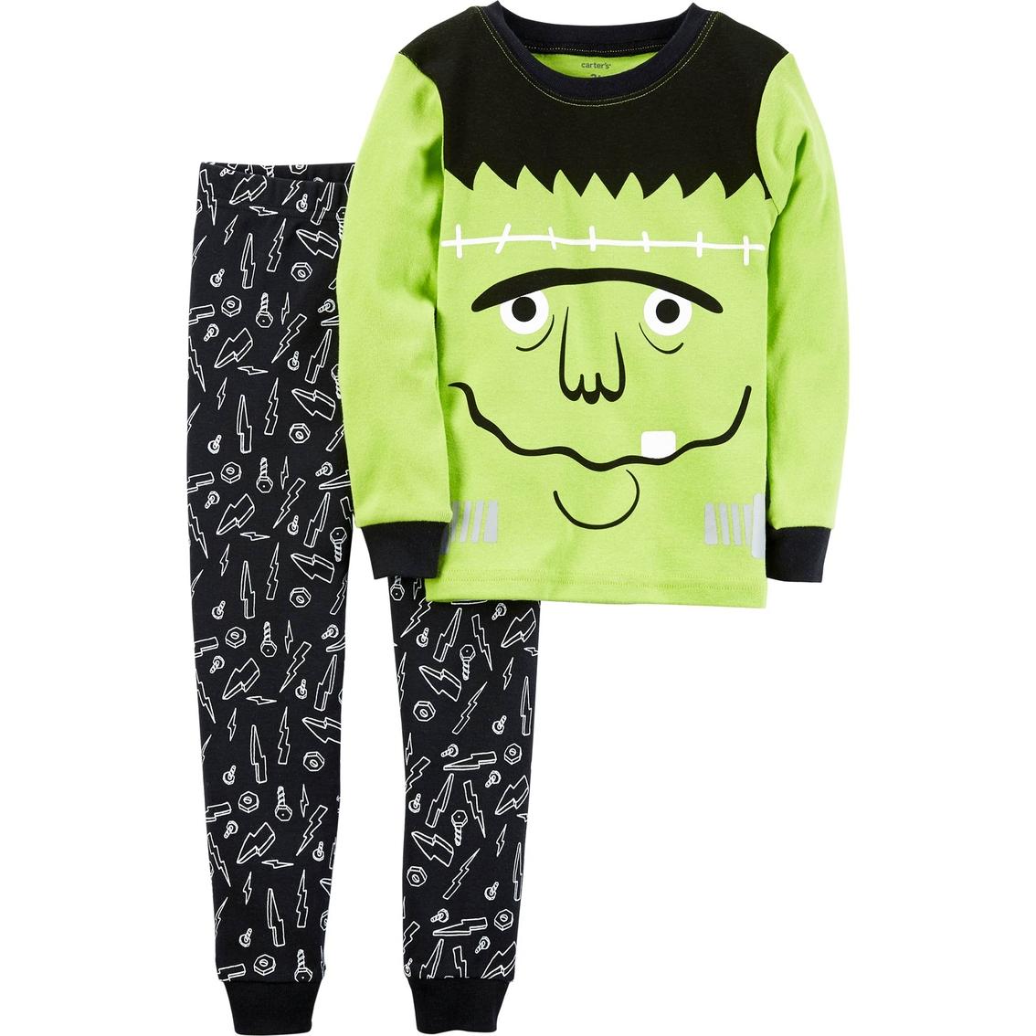 carters infant boys 2 pc snug fit halloween frankenstein pajama set