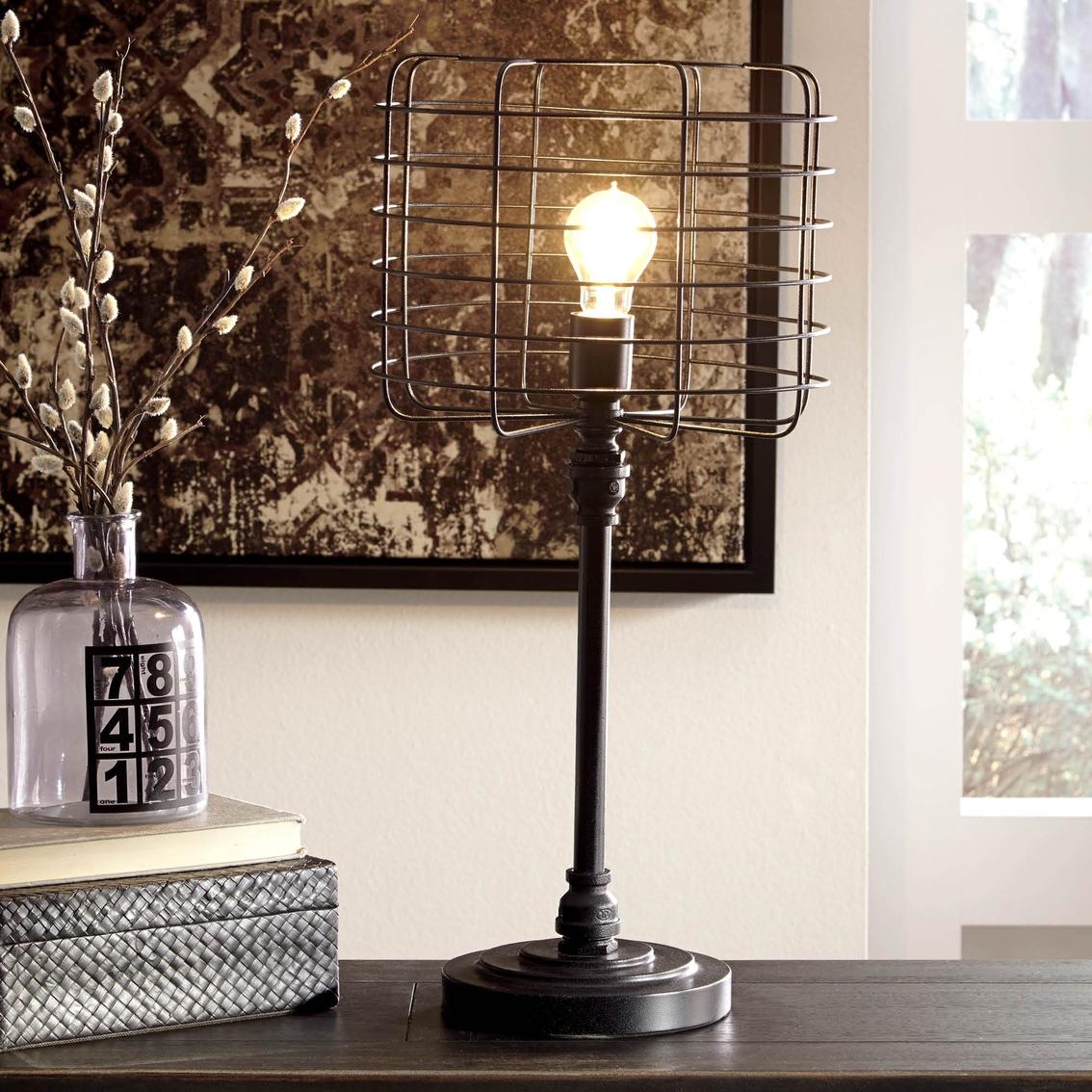 Signature design by ashley javan metal table lamp antique - Antique exchange home design baltimore md ...