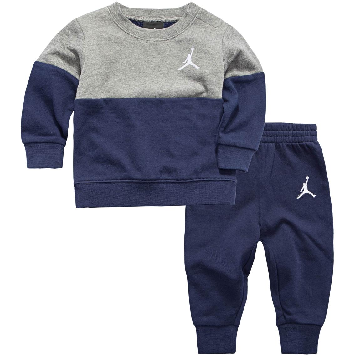 new concept 50000 b89fa Jordan Infant Boys 2 Pc. Wing French Terry Crew Set