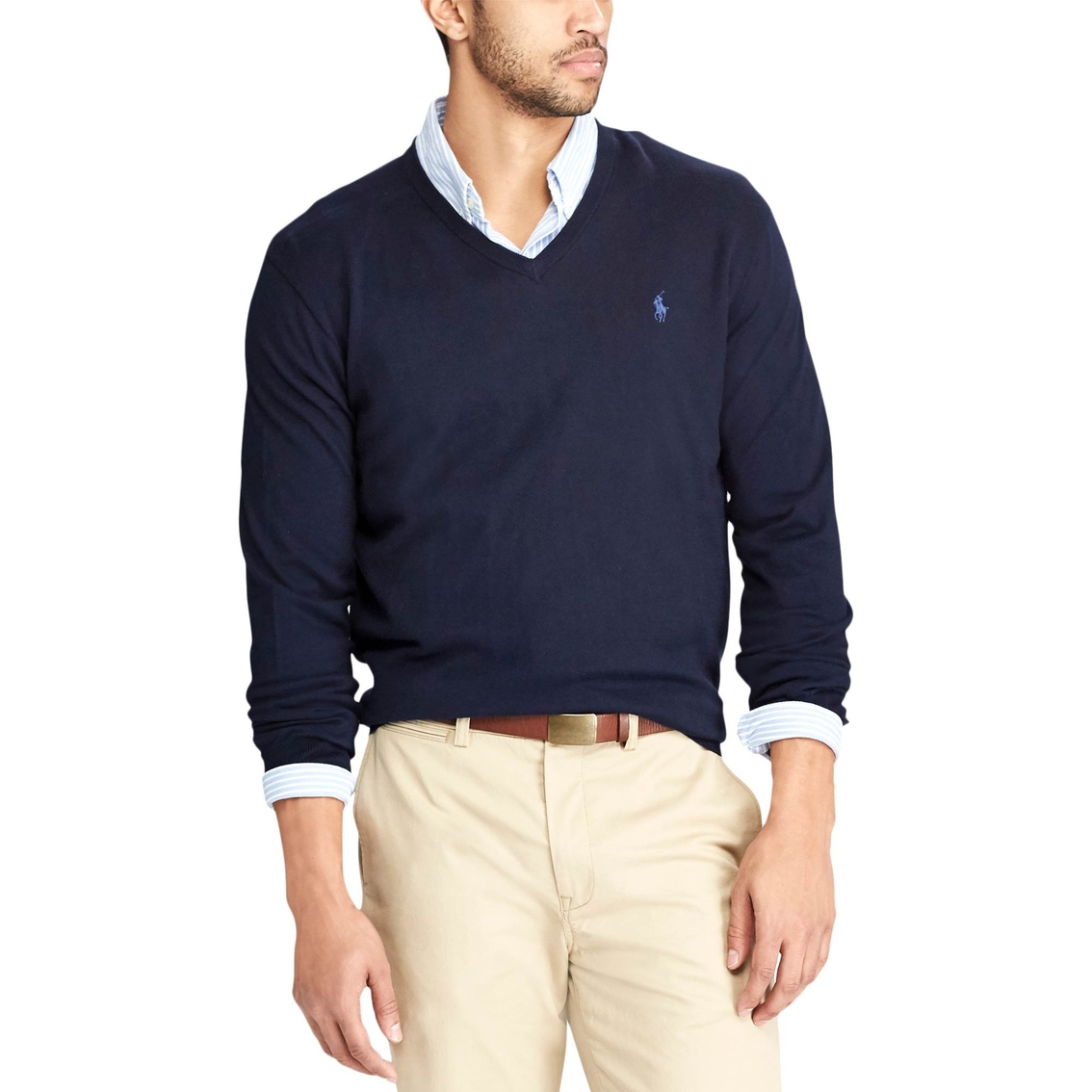 Polo Ralph Lauren Cotton V-neck Sweater   Polo Ralph Lauren   Shop ... 4fdc9d72c3e