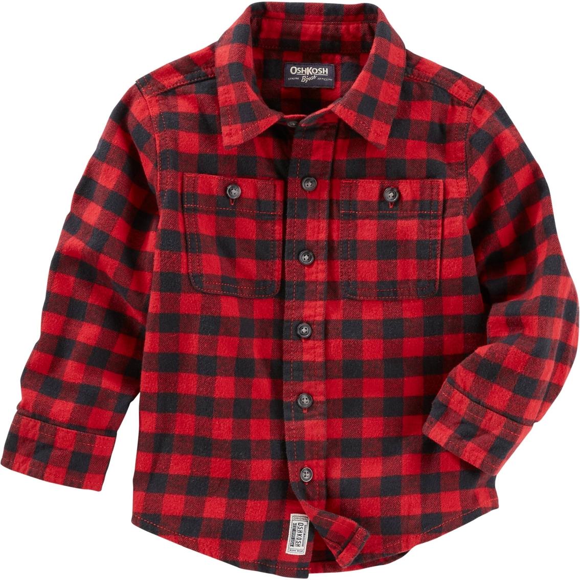 OshKosh Bgosh Toddler Boys Buffalo Check Flannel Shirt