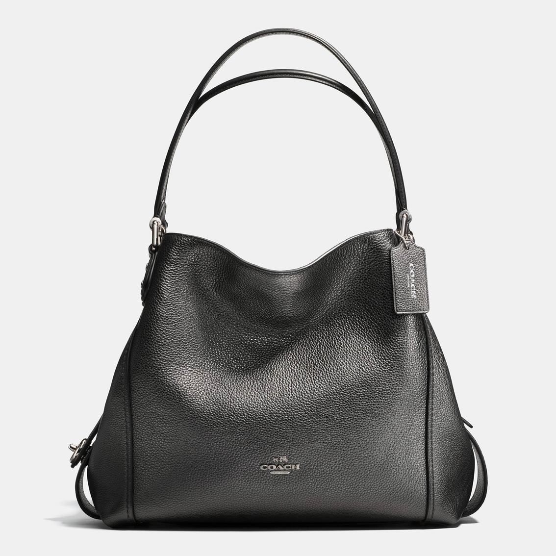 8fb1b1e10fa6 Coach Edie Shoulder Bag 31 In Metallic Leather