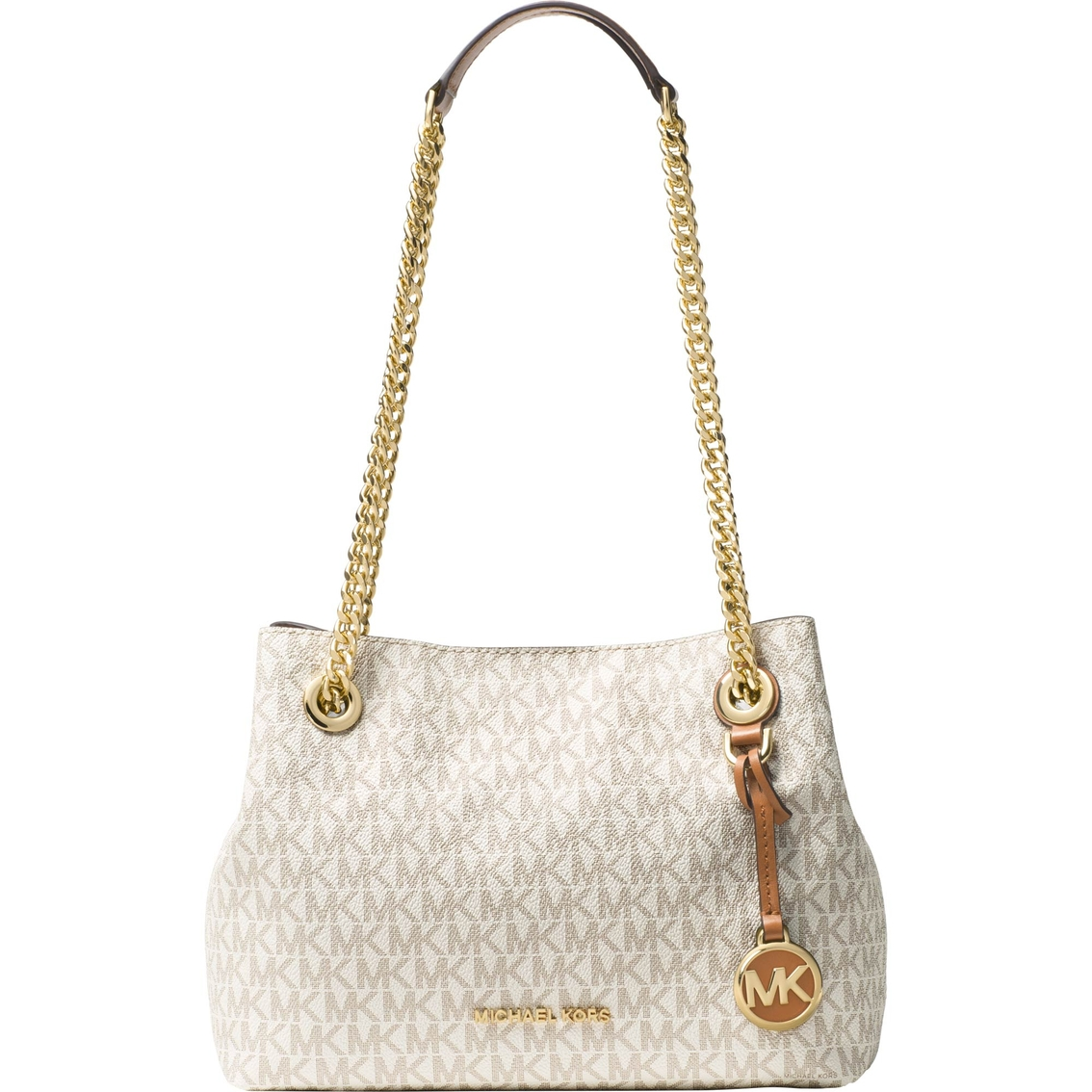 1f2be443da Michael Kors Jet Set Chain Medium Mk Signature Messenger Bag ...