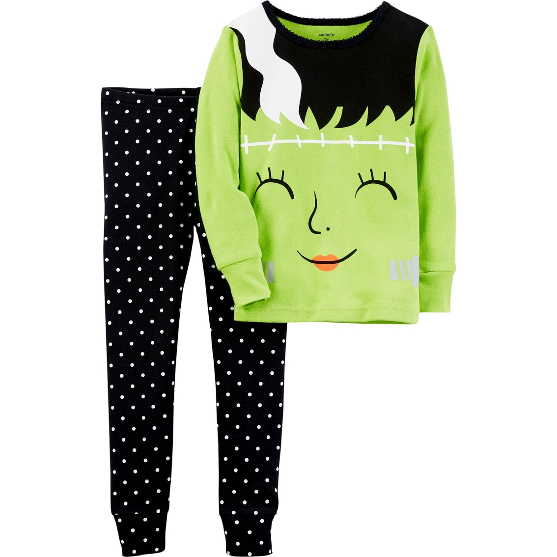 carters infant girls halloween glow in the dark pajama set