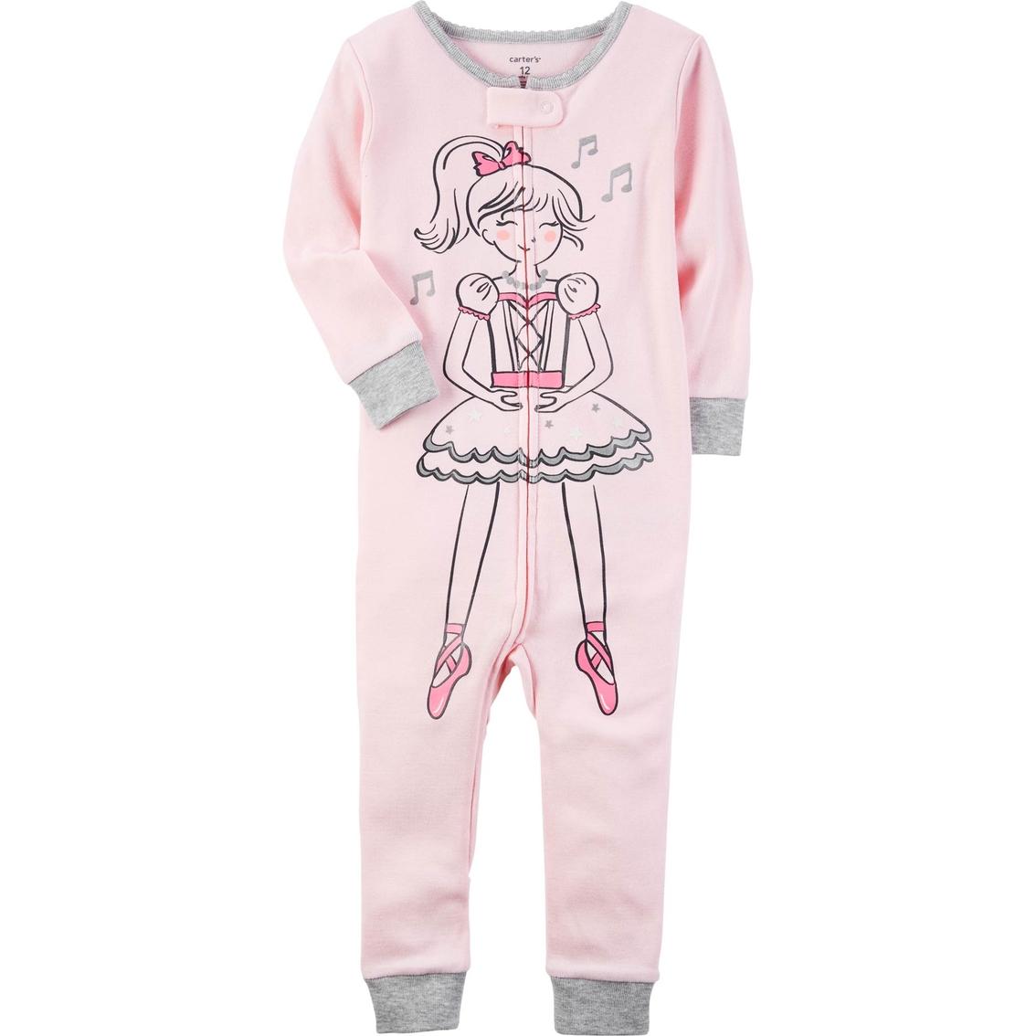 244703e46 Carter s Infant Girls Ballerina 1 Pc. Footless Pajama