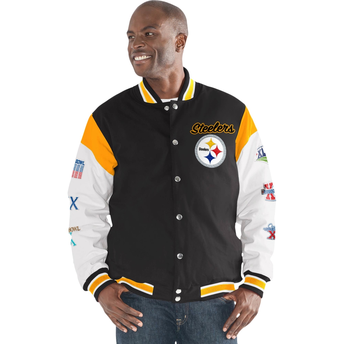 6986e8a57 G-III Sports NFL Pittsburgh Steelers Team Elite Commemorative Varsity Jacket