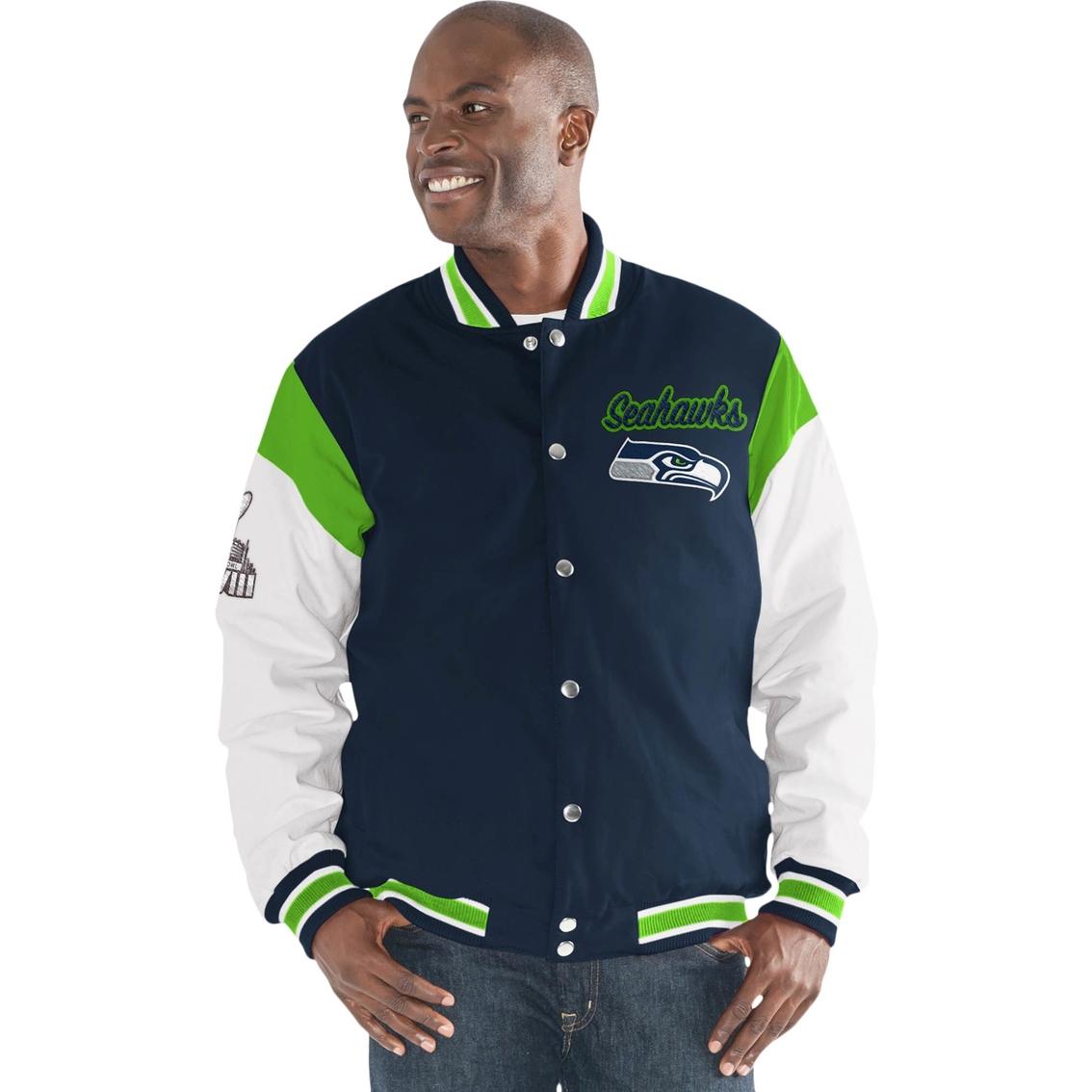 G-III Sports NFL Seattle Seahawks Team Elite Commemorative Varsity Jacket dfbb4c964