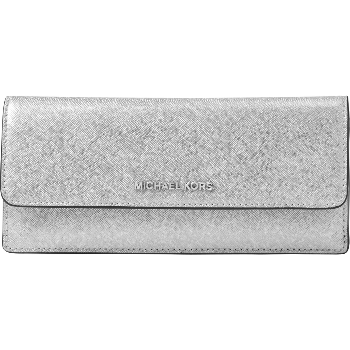 d1b263498e33 Michael Kors Money Pieces Flat Wallet In Metallic Saffiano Leather ...