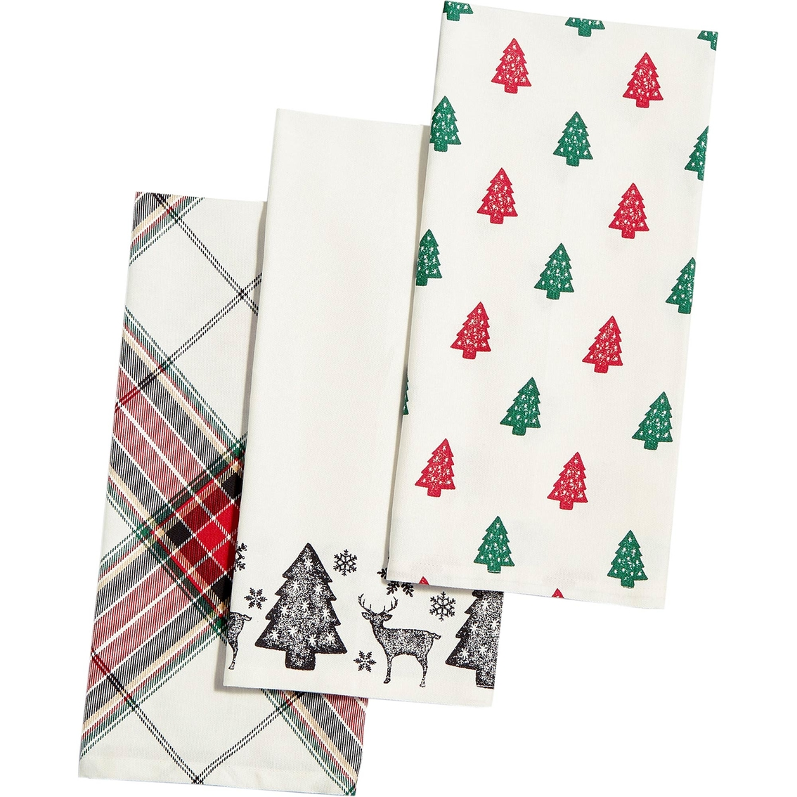 Martha Stewart Kitchen Towels: Martha Stewart Collection Deer Pond Cotton 3-pc. Kitchen