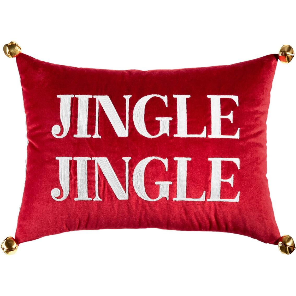 Martha Stewart Collection Jingle Velvet Decorative Pillow, 14 X 20 In. Decorative Pillows ...