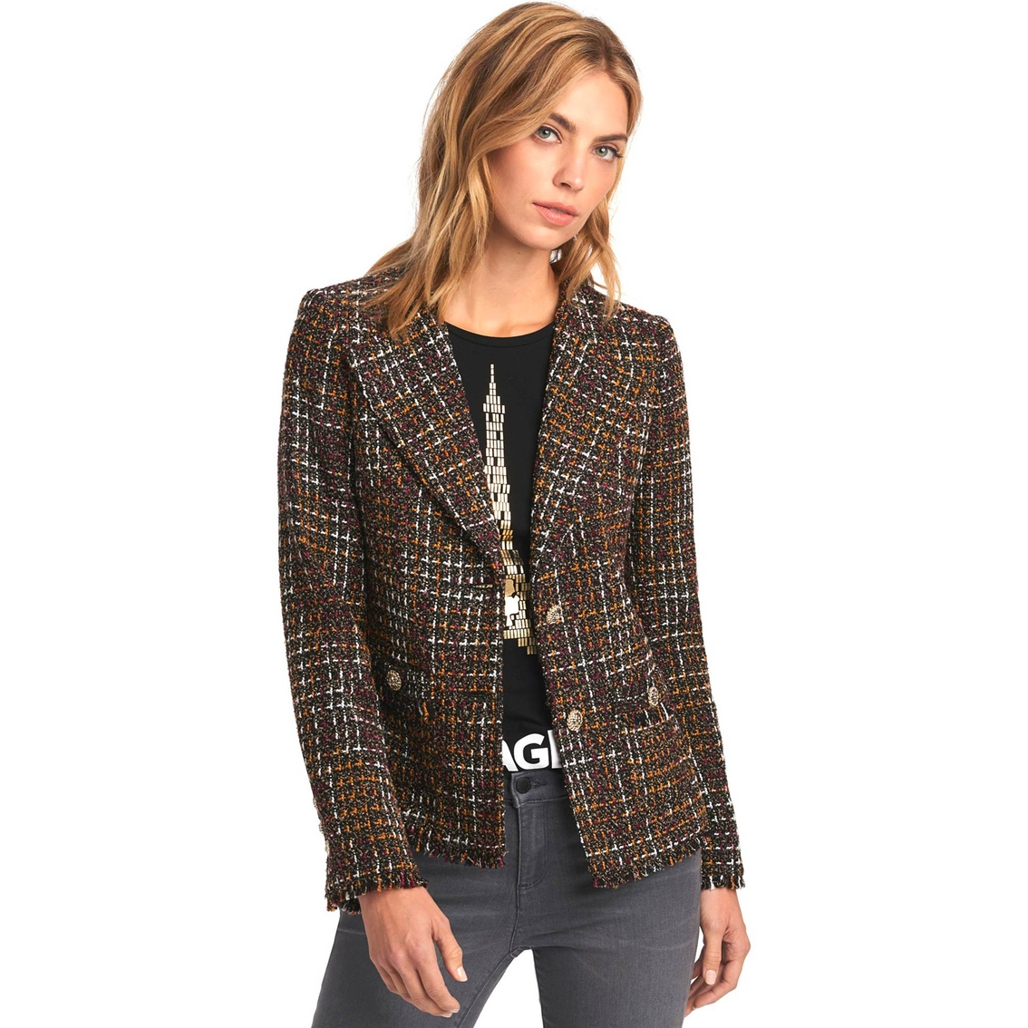 e25f2c3a56 Karl Lagerfeld Paris Blazer Tweed Jacket