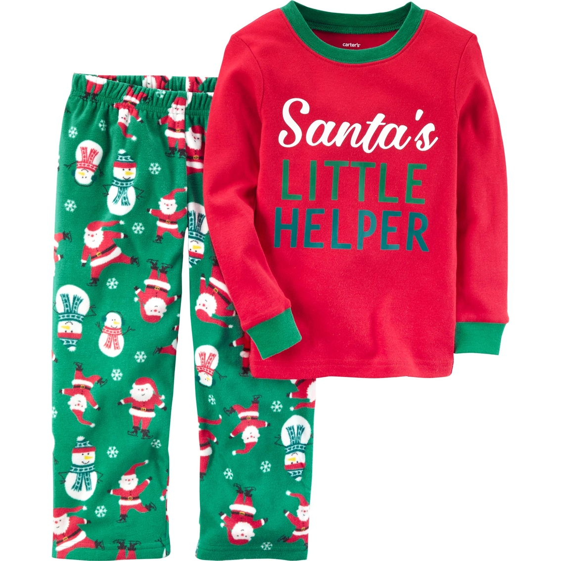 db7632cf31c1 Carter s Little Boys 2 Pc. Santa s Little Helper Pajama Set