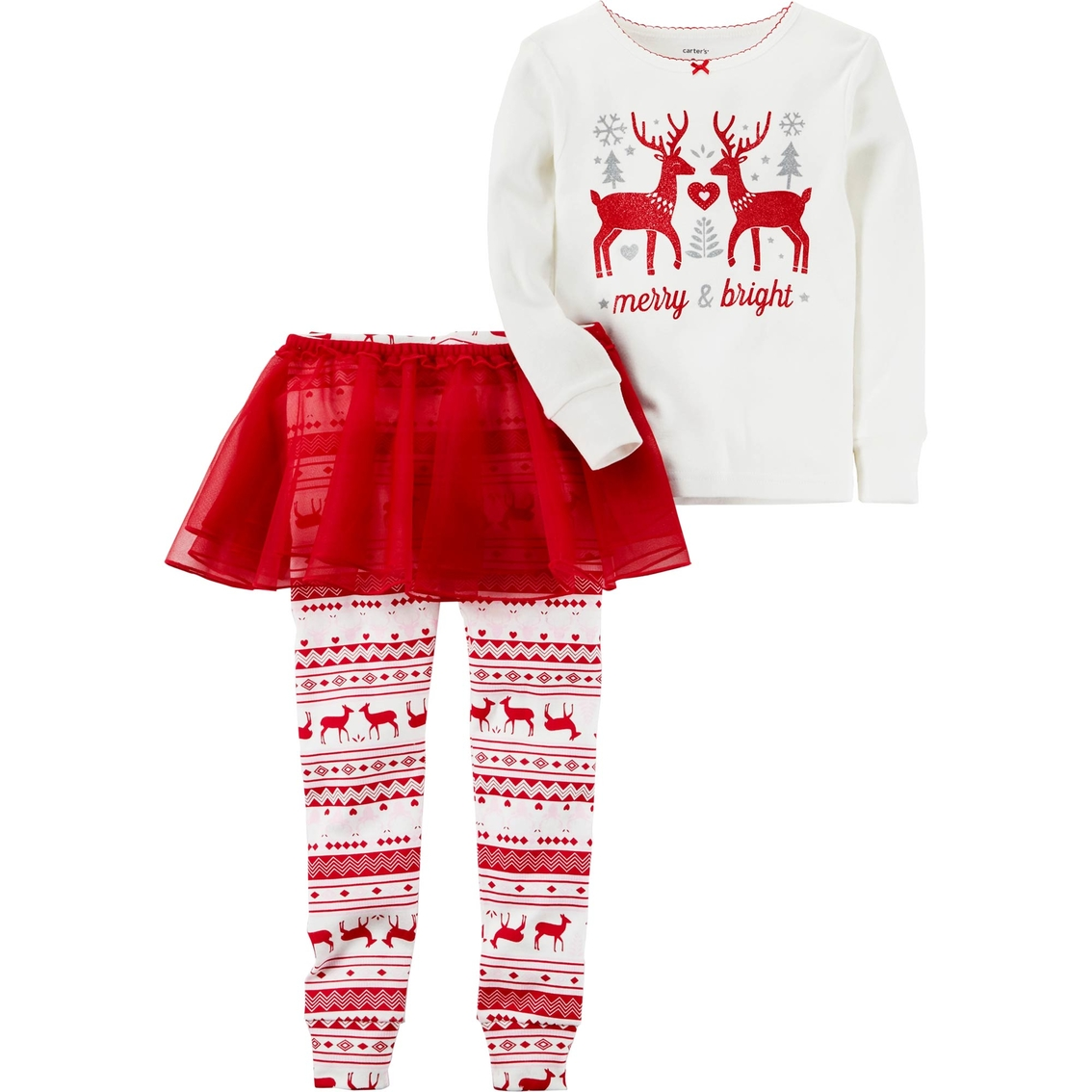 Carter\'s Infant Girls 3 Pc. Reindeer With Tutu Pajama Set | Baby ...