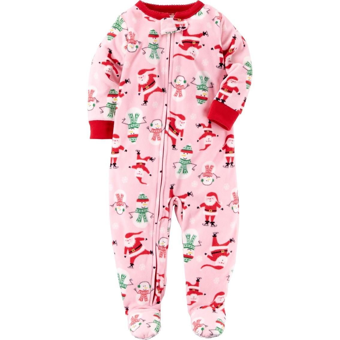 d5c7c32d4927 Carter s Infant Girls Snowman Footed Pajamas