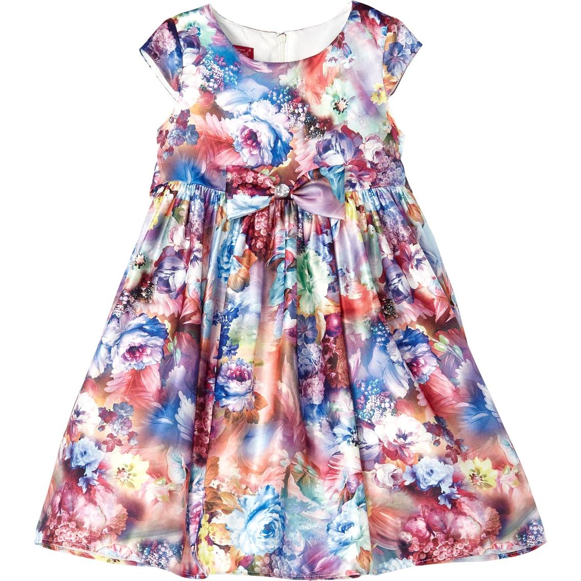 dcd25618b Princess Faith Little Girls Floral Dress With Bow Dress   Girls 4-6x ...