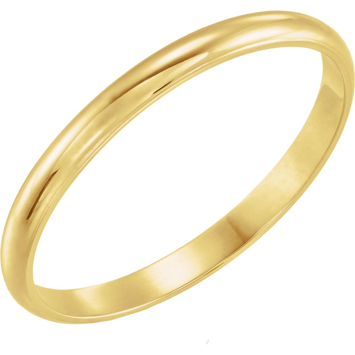 14K White Gold Youth Band Size 0.5