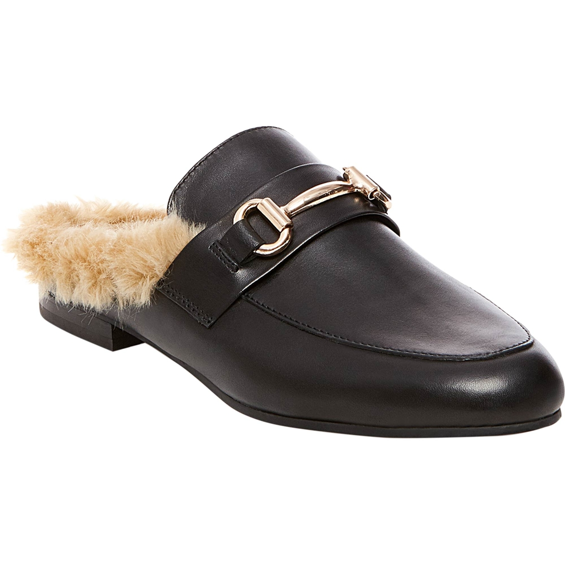 Steve Madden Jill Mule With Faux Fur