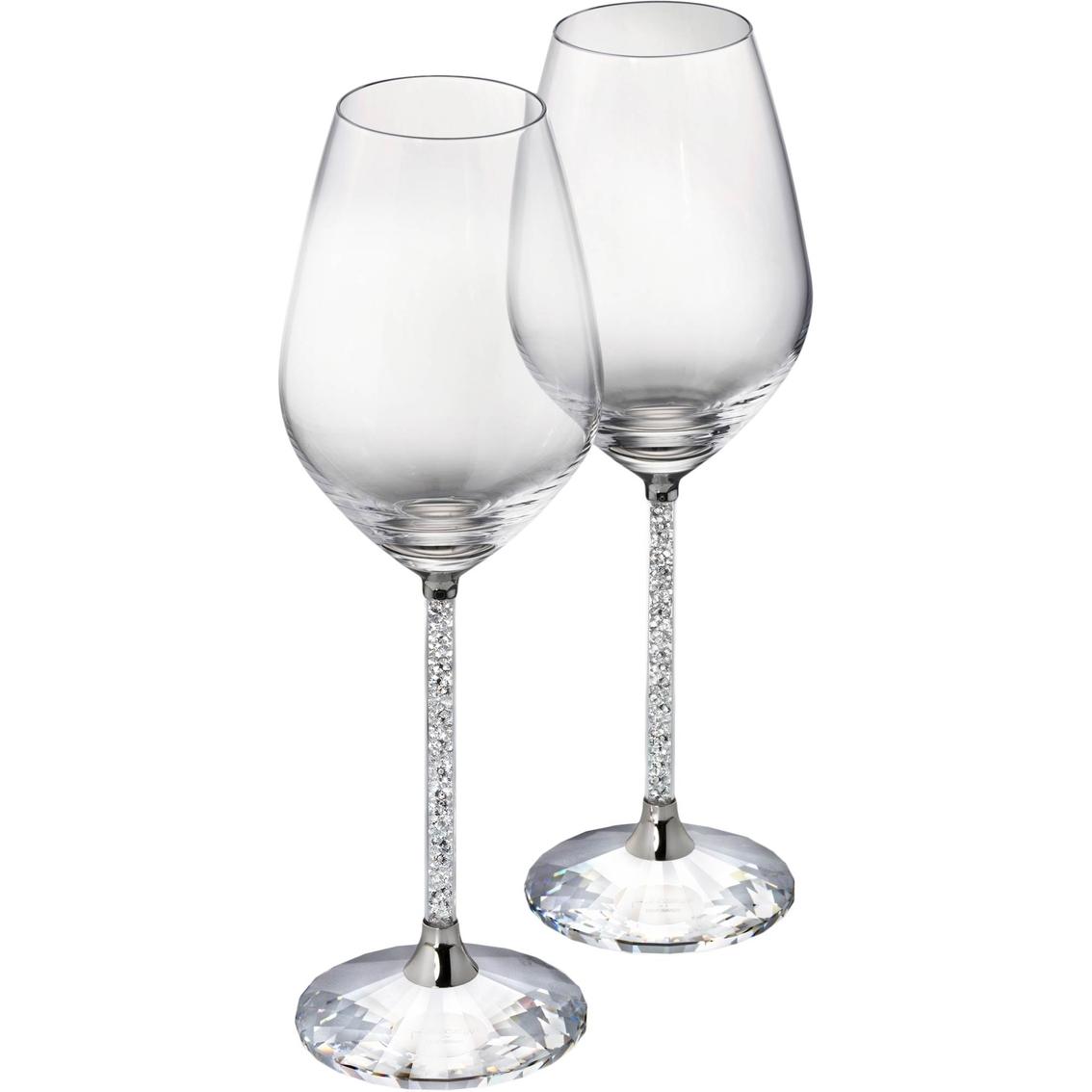 c5a59d8ac607 Swarovski 2 Pc. Crystalline Red Wine Glass Set