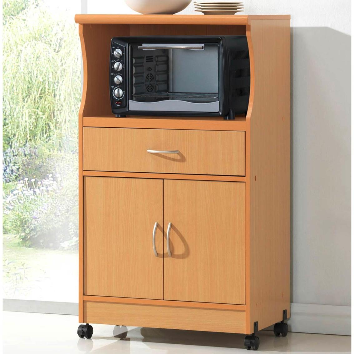 Hodedah Contemporary Microwave Cart | Kitchen Carts ...