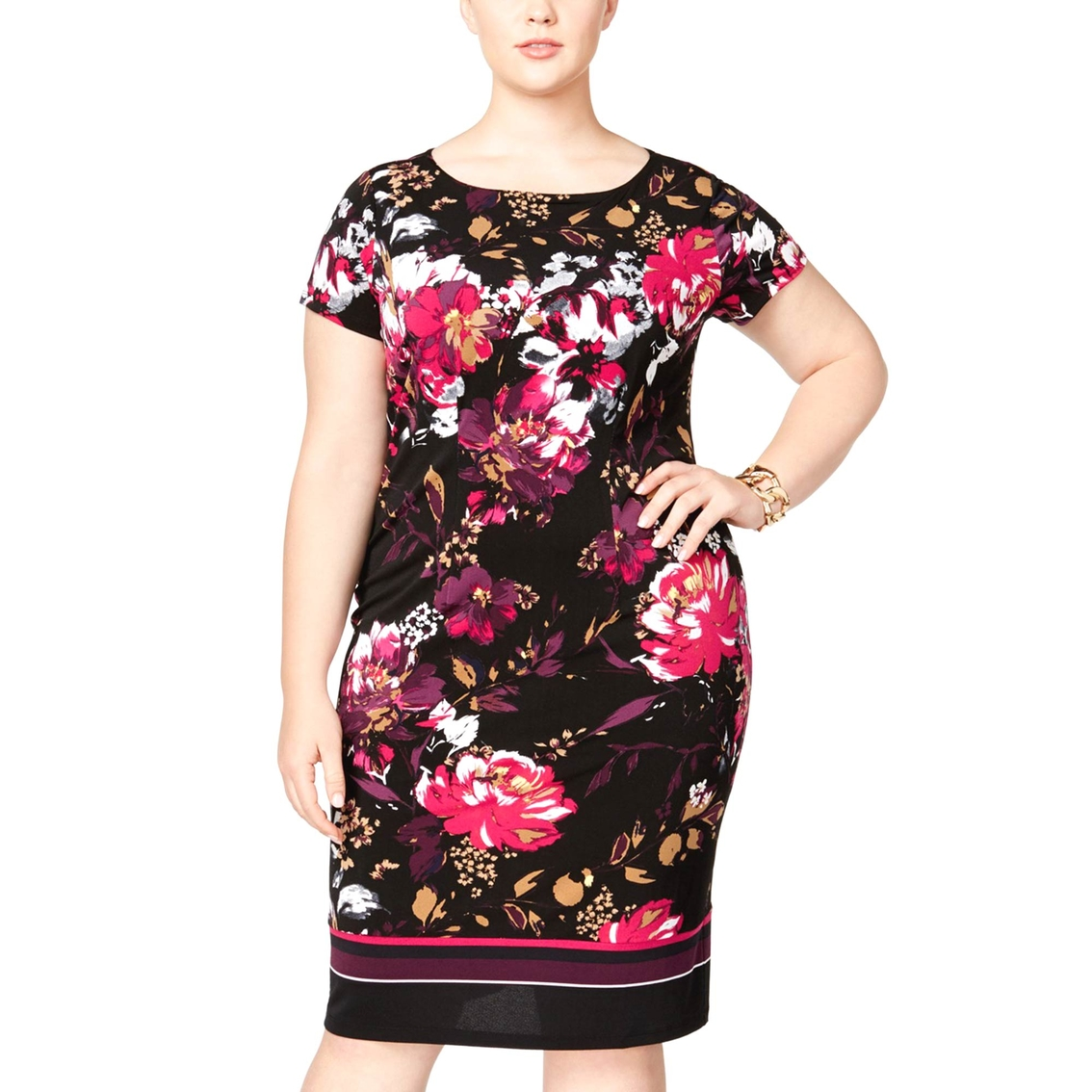 Inc International Concepts Plus Size Printed Sheath Dress   Dresses ...