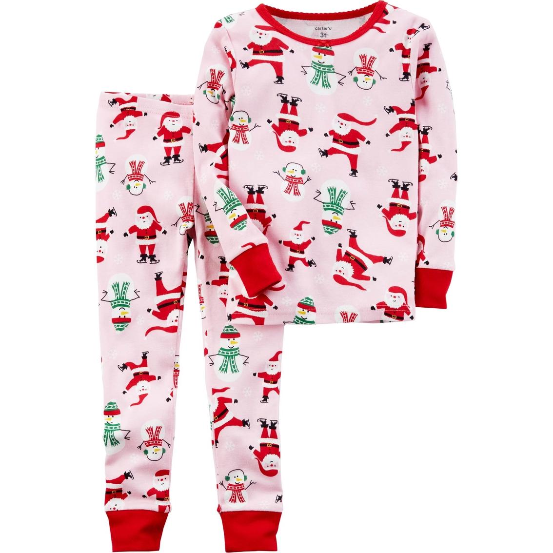 f8f6a566bbbb Carters Toddler Girl 2 Pc. Christmas Print Pajama Set