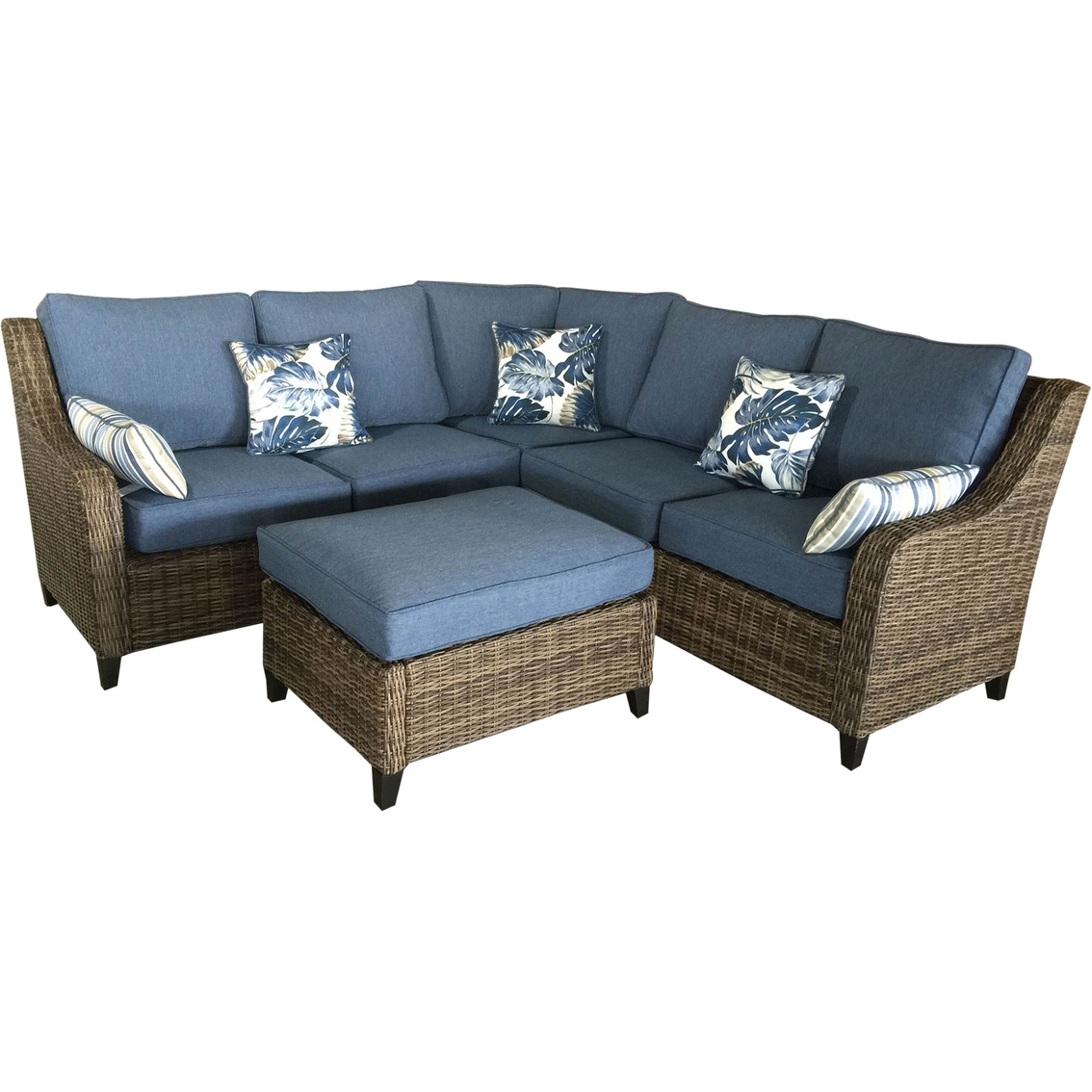 Creative Courtyard Raffia 4 Pc Sectional Sofa Set