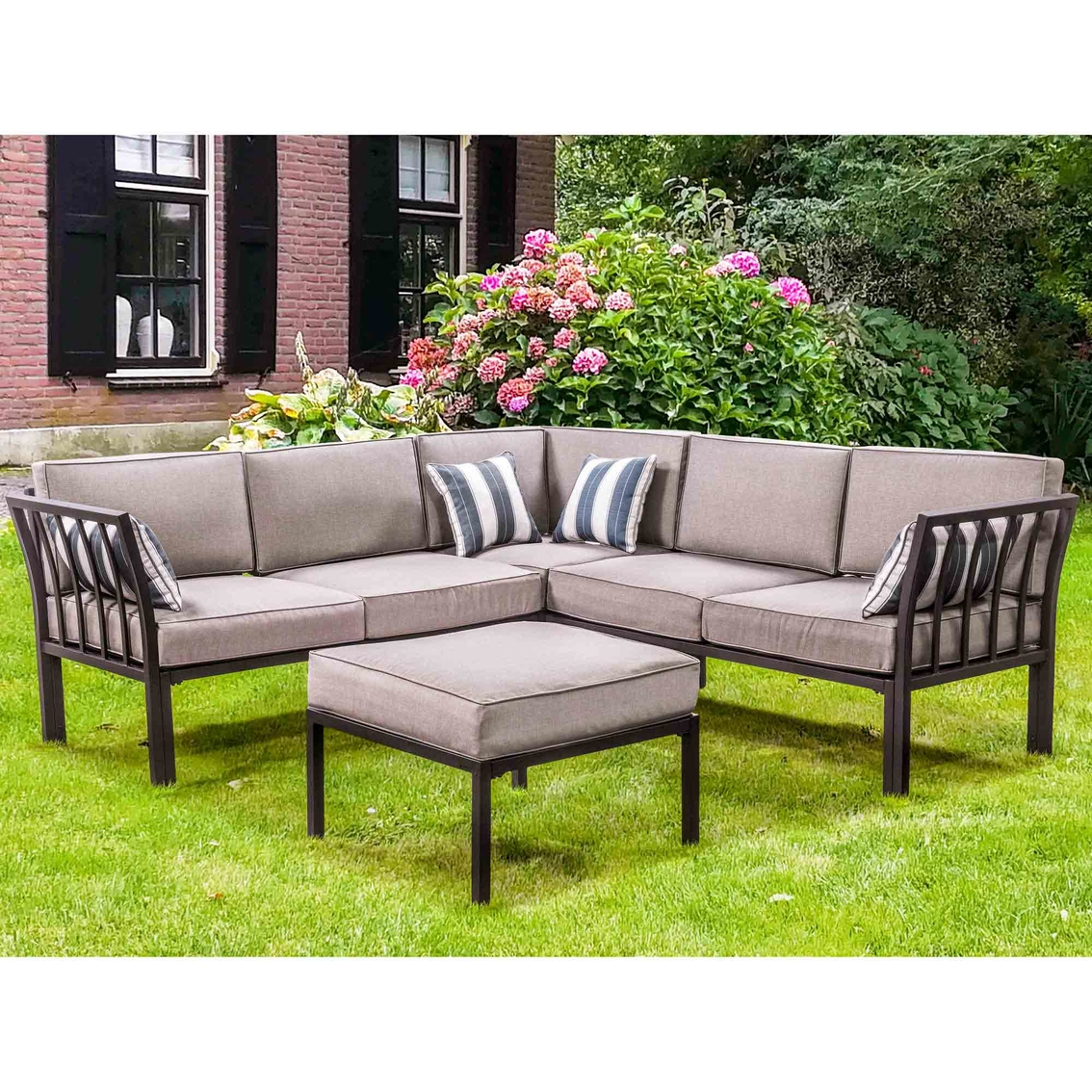 Courtyard Creations Mission Ridge 4 Pc. Sectional Sofa Set ...