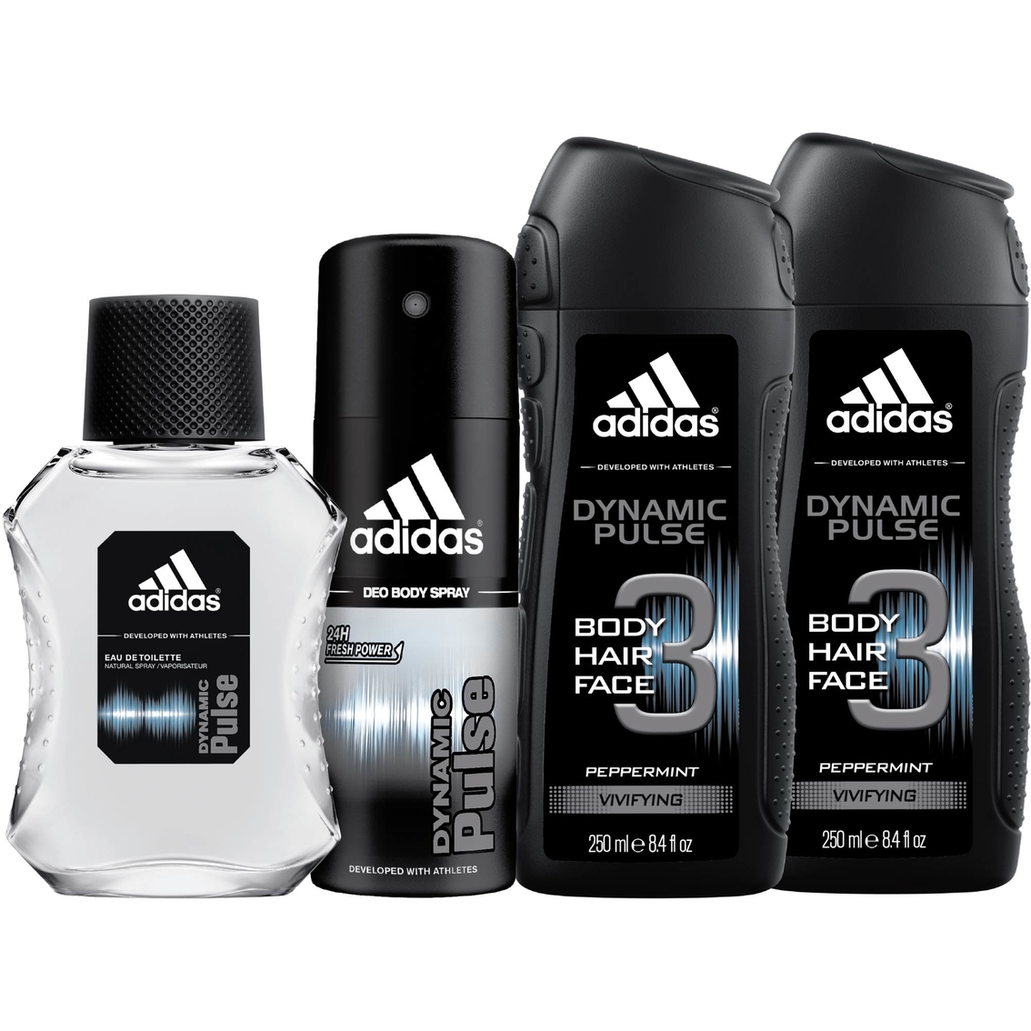 Adidas home gym dynamic pulse mens 4 pc gift set gifts sets 0000 fandeluxe Choice Image