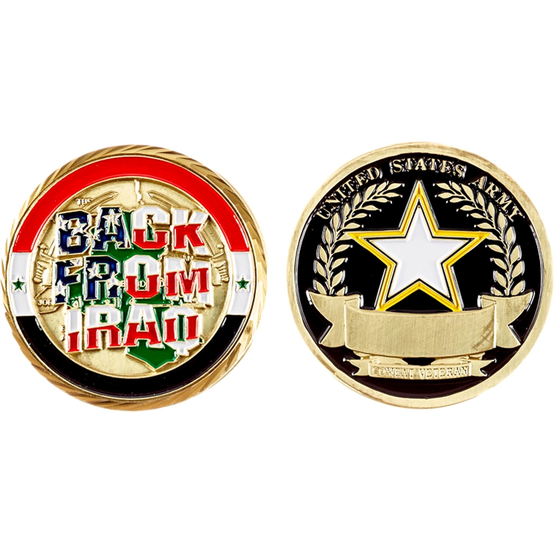 Challenge Coin Back From Iraq, Army Coin | Coins & Cases