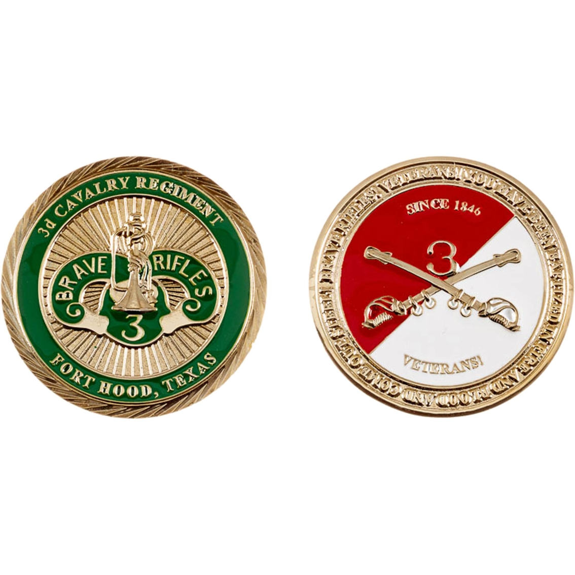 Challenge Coin Ft  Hood 3rd Cavalry Coin | Coins & Cases