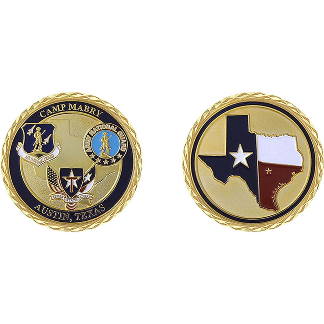 Challenge Coin Camp Mabry Texas State Guard Coin | Coins