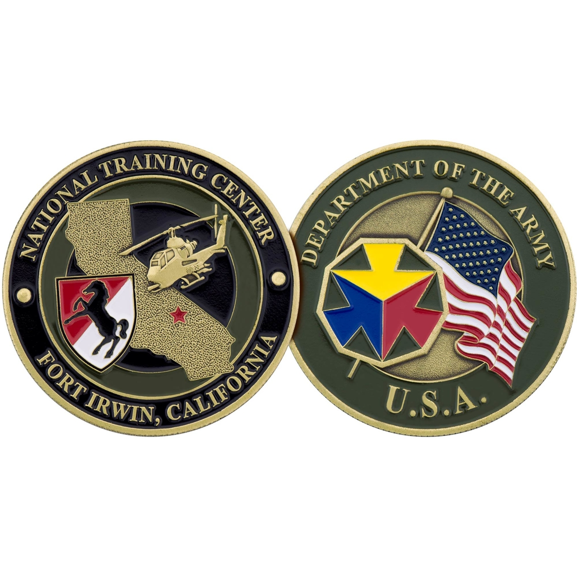 Challenge Coin Ft  Irwin National Training Center Coin