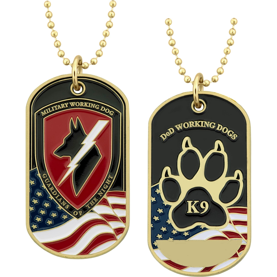 Challenge Coin Working Dog Tag   Coins & Cases   Gifts