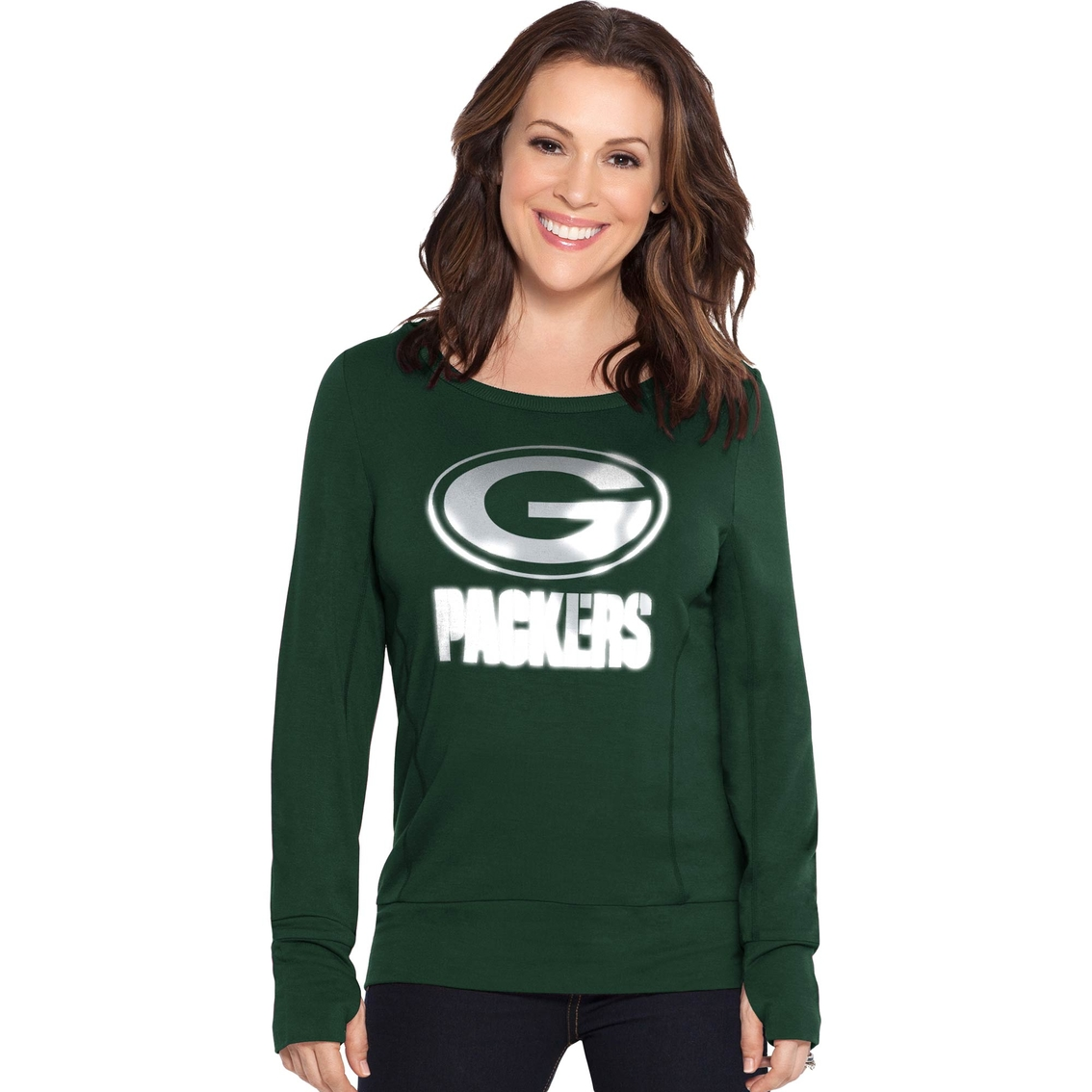 finest selection a3186 6e60d Touch By Alyssa Milano Nfl Green Bay Packers Women's Lateral ...
