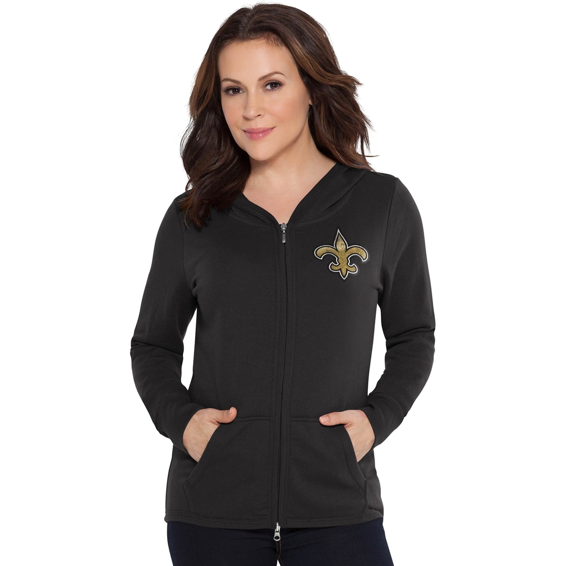 Touch By Alyssa Milano Nfl New Orleans Saints Women s Tackle Hoodie ... fa95298d76