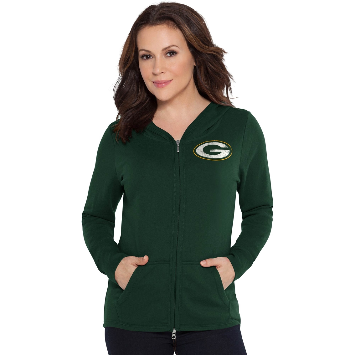 Touch By Alyssa Milano Nfl Green Bay Packers Tackle Hoodie