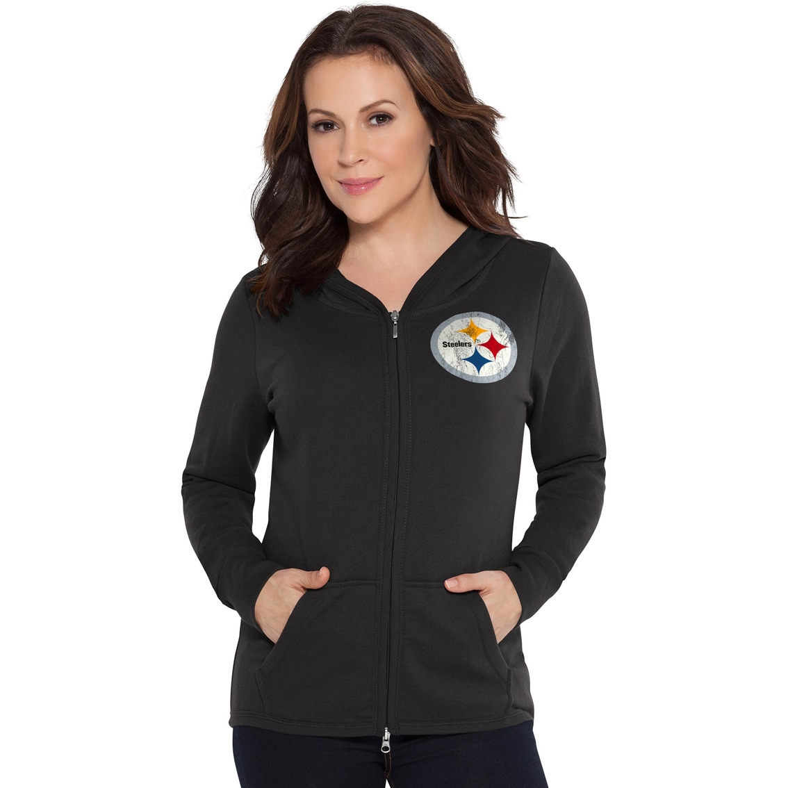 Touch By Alyssa Milano Nfl Pittsburgh Steelers Women s Tackle Hoodie ... 49f5090ab0