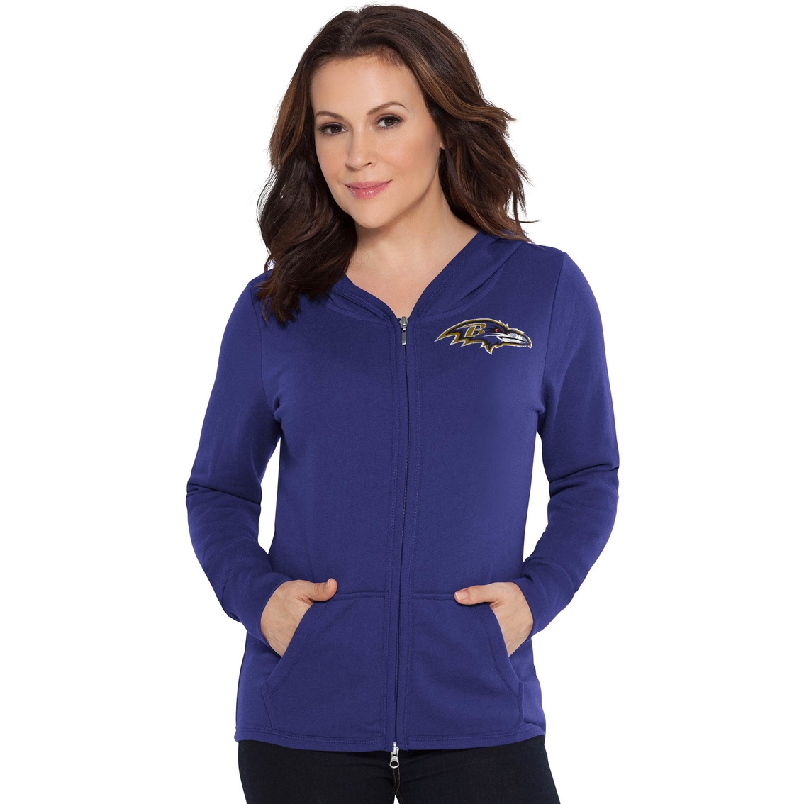 Touch By Alyssa Milano Nfl Baltimore Ravens Women s Tackle Hoodie ... 5eb7cdf8e5