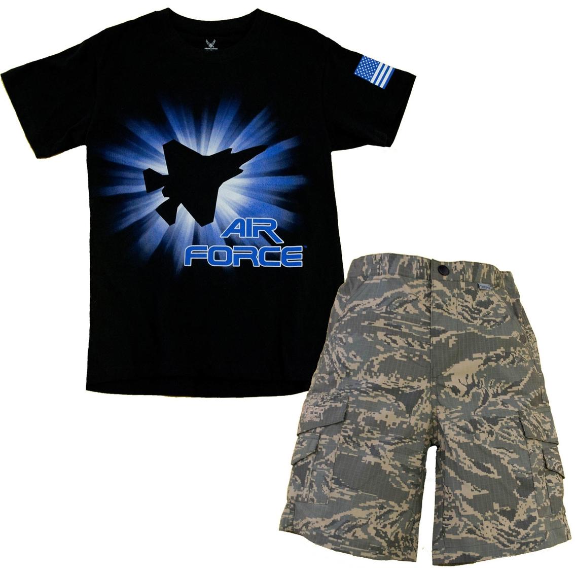 c956295e Trooper Clothing Kids Air Force Tee And Short Set | Boys 4-7x ...