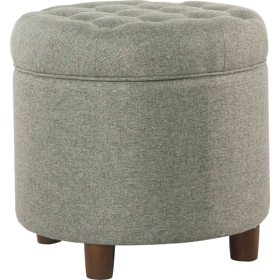 kinfine usa small round storage ottoman ottomans home appliances shop the exchange. Black Bedroom Furniture Sets. Home Design Ideas