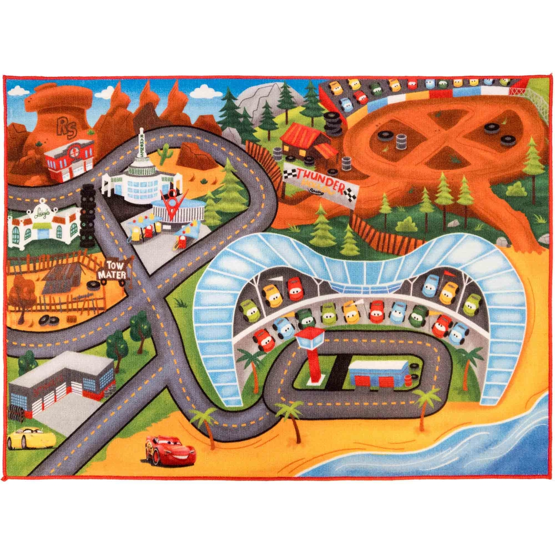 Cars 3 Interactive Game Rug 31.5 X 44 In.