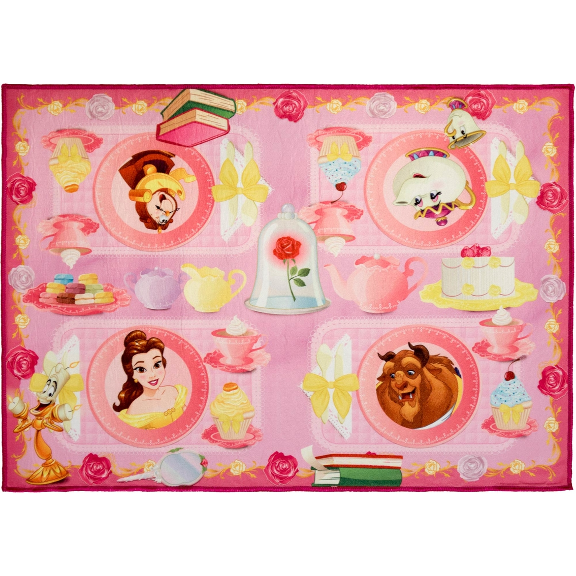 Beauty And The Beast Belle Tea Party Interactive Game Rug 31.5 X 44 ...